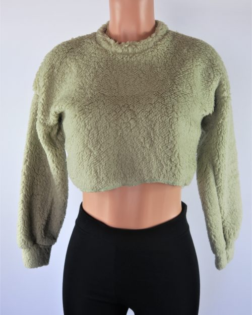 Teddy Crop Sweater