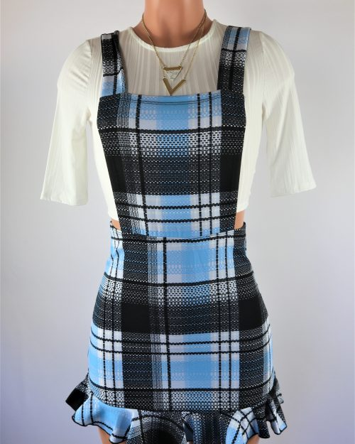 Tonie Plaid Overall Dress Set