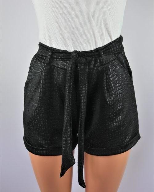 Oversize Croc Shorts