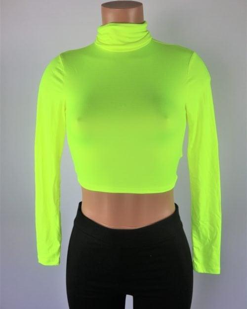 Turtleneck Neon Crop Top