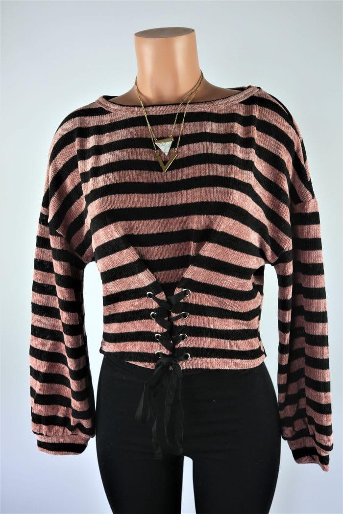 Ella Lace up Sweater