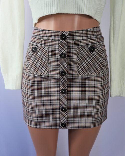 Dora Plaid Skirt