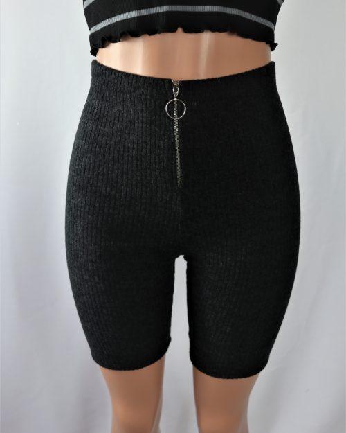 Circle Zipper Biker Shorts