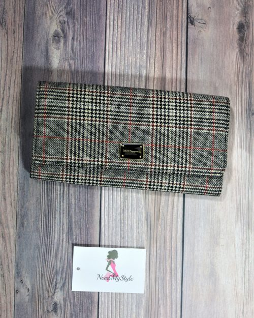 Plaid Clutch Bag
