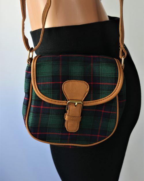 Dina Plaid Crossbody Bag