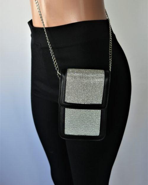 Rhinestone Crossbody Bag