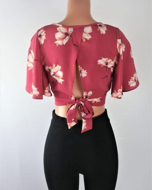 Elisa Floral Crop Top