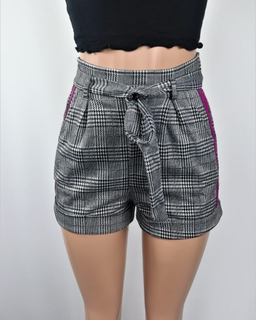 Monochrome Belted Shorts
