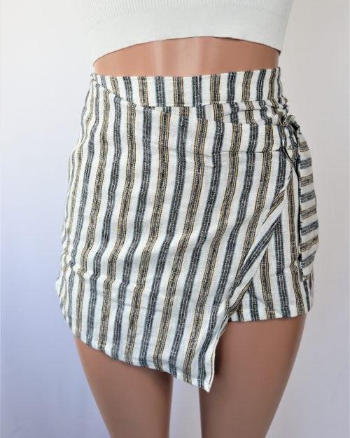 Stripe Linen Skort