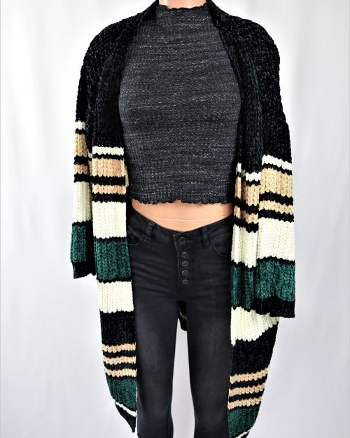 Stripe Chenille Duster