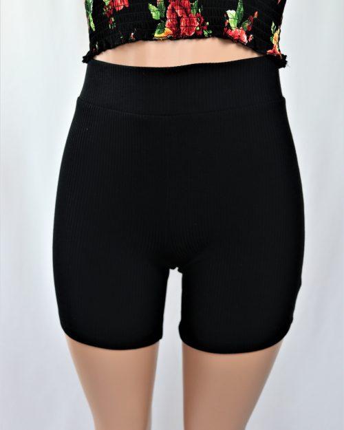 Ribbed Biker Shorts