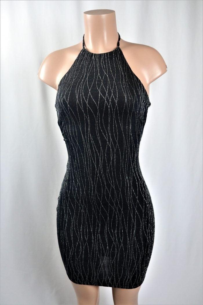 Shimmer Halter Dress