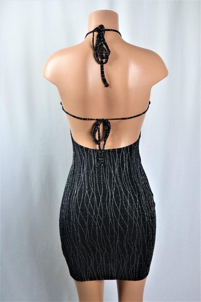 Shimmer Halter Dress b
