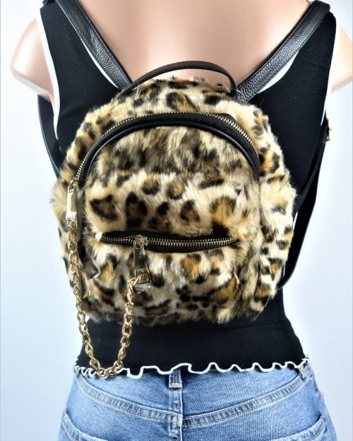 Faux Shearling Mini Backpack