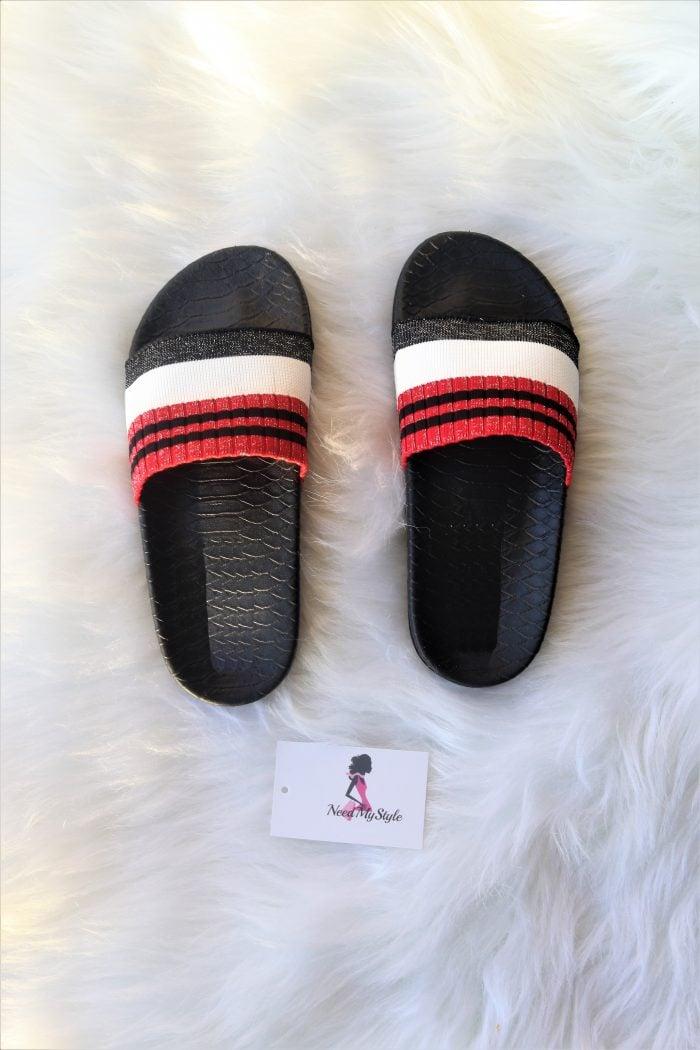 Red Stripe Slides