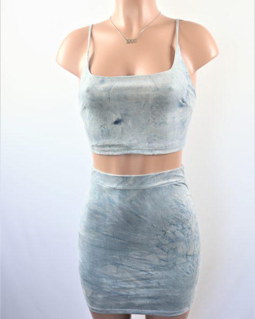 Suede Tie Dye Skirt Set