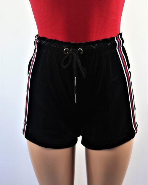 Velvet Stripe Shorts