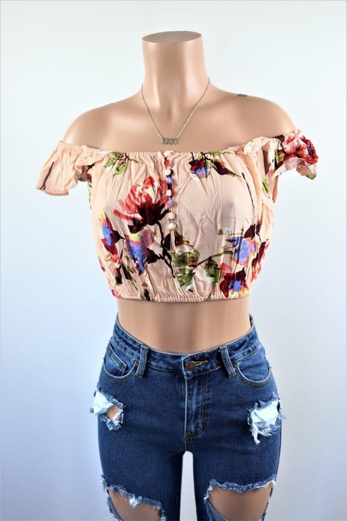 Blush Floral Crop Top