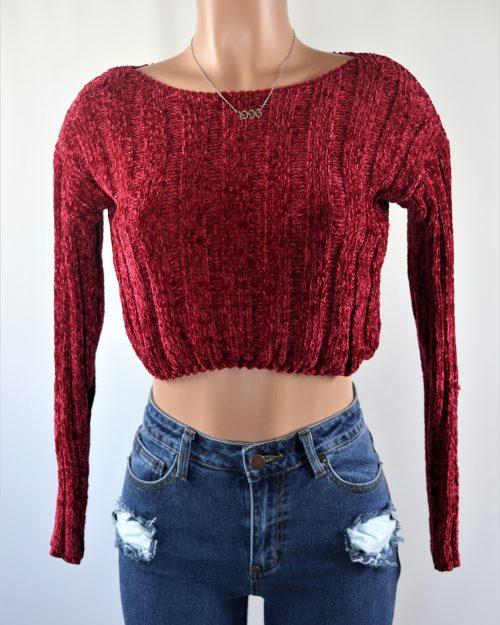 Chanel Crop Sweater Top