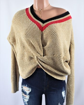 Twisted Light Brown Sweater