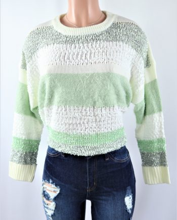 Sage Stripe Sweater