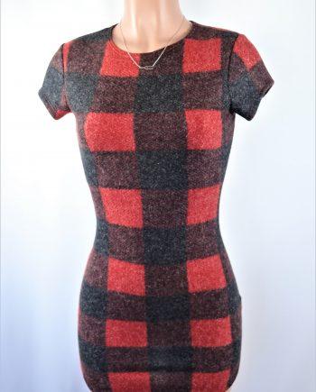Brushed Plaid Dress