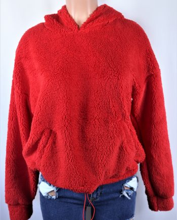 Plush Drawstring Sweater