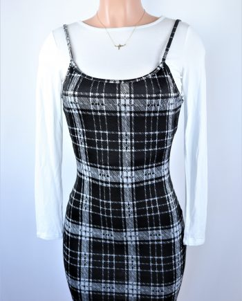 Plaid Dress Set