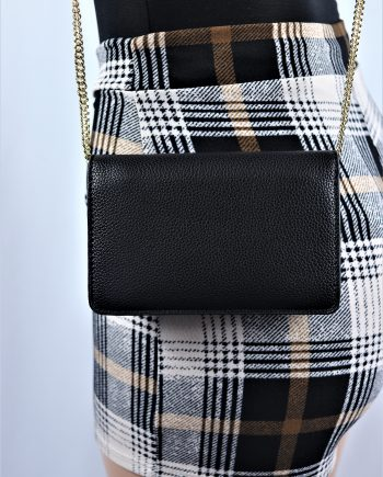 Faux Leather Crossbody Clutch
