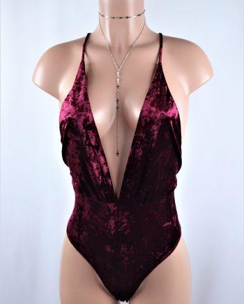 Crisscross Velvet Suit