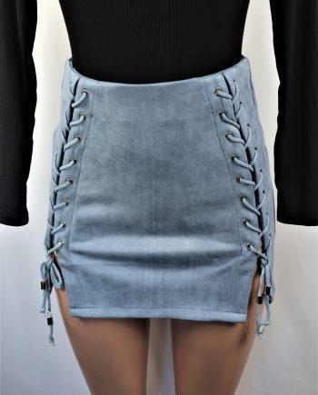 Skylar Double Lace Up Skirt
